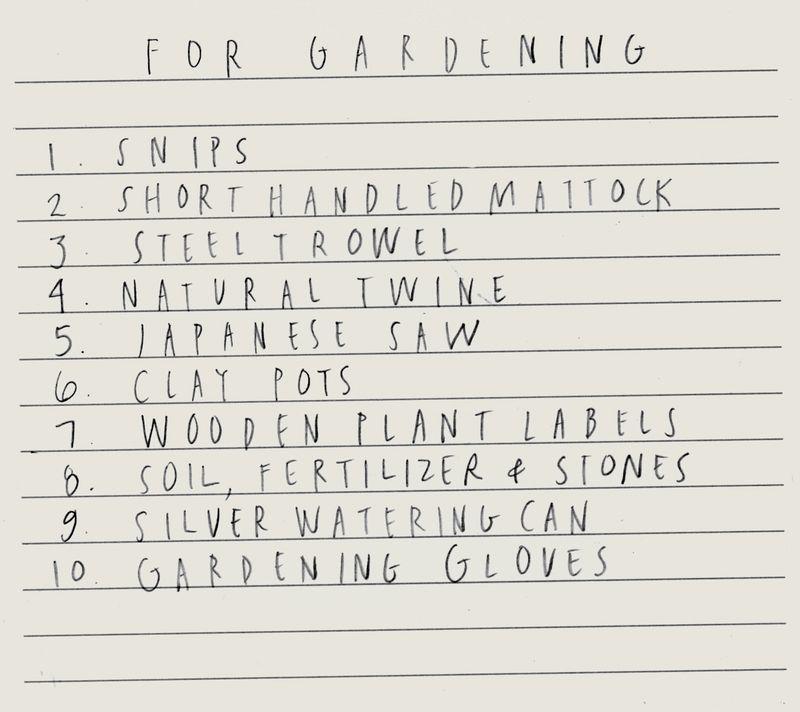 Gardeninglist
