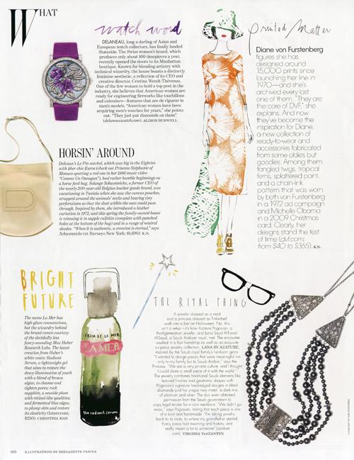 W Magazine, Illustrations by Bernadette